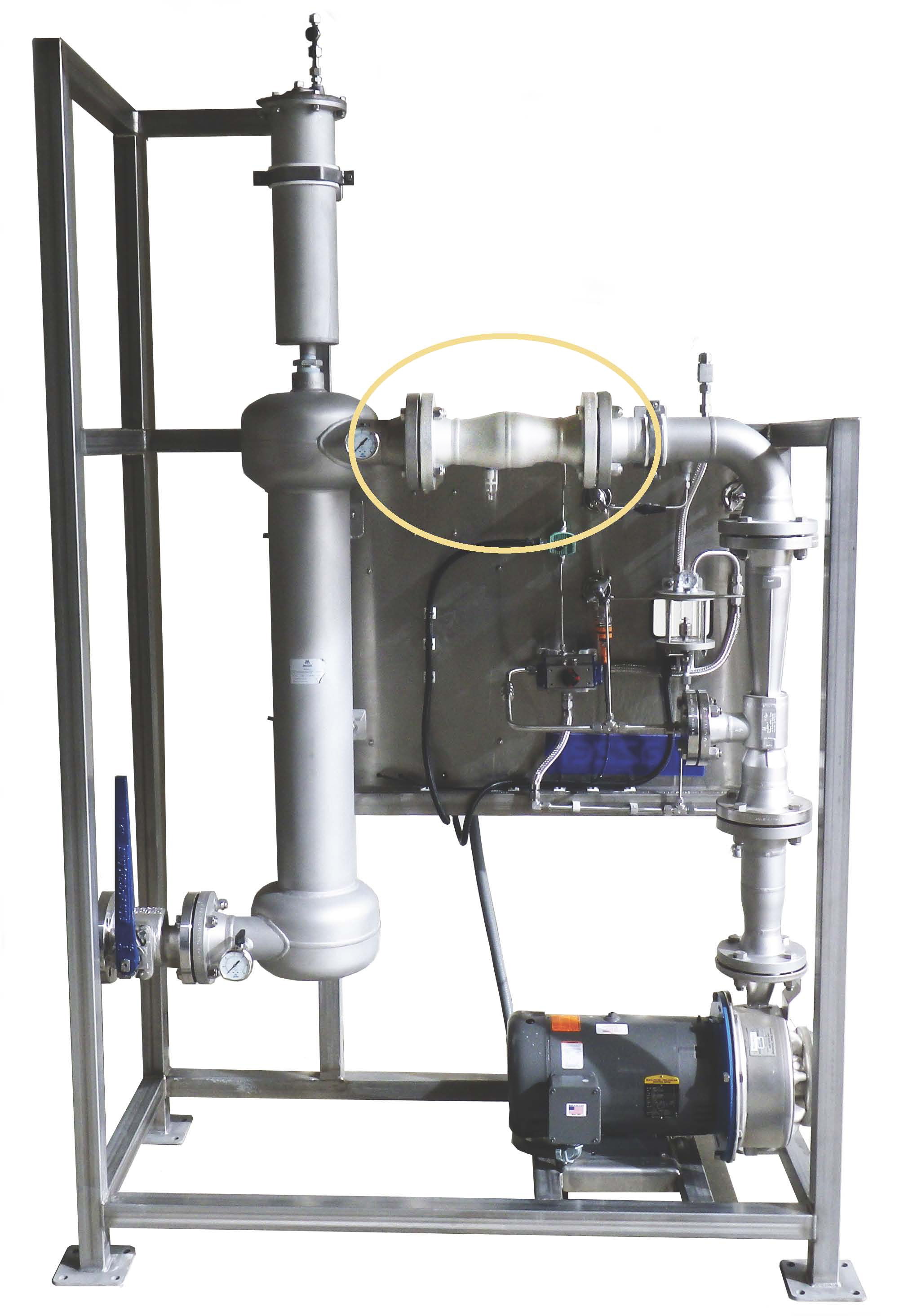 Ozone Contacting Skid with Flash Reactor